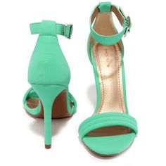 Reservation for Two Mint Nubuck Single Strap Heels