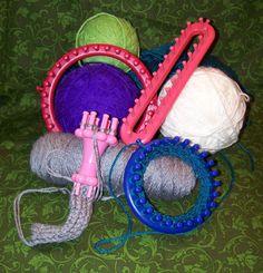 Loom knitting tutorials.
