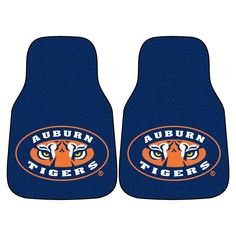Auburn Tigers NCAA Car Floor Mats 2 Front Tiger Eye
