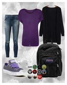 """Untitled #161"" by boyoutfall ❤ liked on Polyvore featuring J Brand, Converse, JanSport and WearAll"