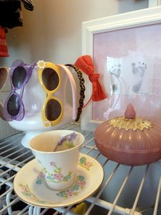 headband and sunglass storage