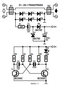 Circuito Indicador de consumo de Carga AC