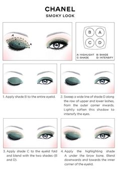 Chanel Eye Makeup Chart: How to Wear Chanel Les 4 Ombres Eye Shadow   Beautygeeks