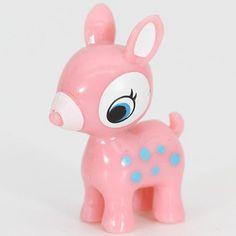 cute pink Bambi deer miniature figure kawaii 2#Repin By:Pinterest++ for iPad#