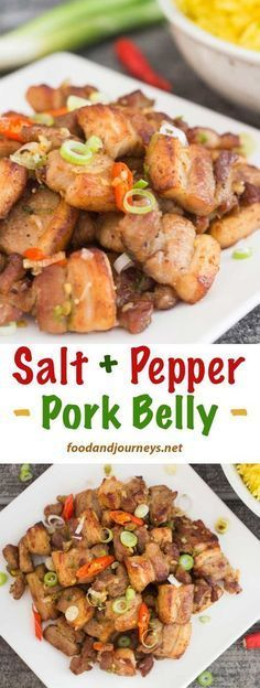 Thirty minutes! That's all the the time it takes to prepare Salt and Pepper Pork Belly. A delicious and satisfying dish, and NO-FUSS seasoning too! Pork   Recipe   Asian   Wok. #asianrecipe #porkbelly #30minutemeal #easy #quick