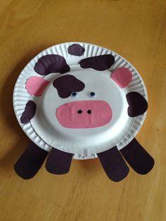 Toddler craft cow