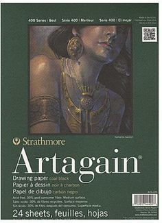Strathmore 400 Series Artagain Pads Black 2 pcs sku 1843648MA -- Find out more about the great product at the image link. #Paints