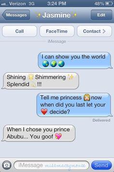 Aladdin | 10 Texts From Disney Princesses To Their Princes