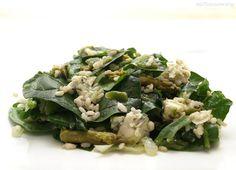 Ensalada templada de arroz integral y espinacas - MisThermorecetas.com