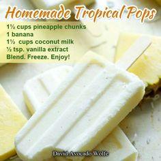 Homemade Tropical Pops