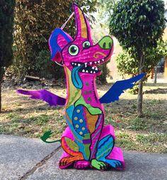 Yipi hey piñatas coco Dante alebrije Birthday Pinata, My Son Birthday, 4th Birthday Parties, Coco Costume, Coco Disney, Day Of The Dead Party, Mexican Party, Fiesta Party, Halloween Party