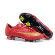 Best Nike Mercurial Vapor Superfly CR7 III FG Soccer Cleats In Red Golden 36d205ae88679