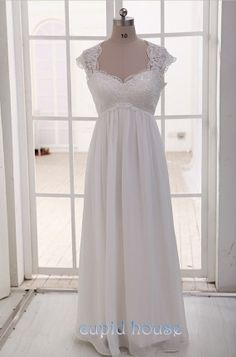 Plus Size Cap Sleeves Sweetheart Neck Cheap White Ivory Simple Floor-length Long Lace Wedding Dress Lace Bridal Dress Wedding Gown 2014