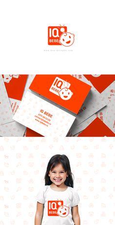 IQ Bebe - Brand Identity www.One-Giraphe.com #baby #logo #red #graphicdesign #logodesigner Brand Identity, Branding, Logo Design, Graphic Design, Baby Design, Art Director, Creative Art, Baby Kids, Parenting