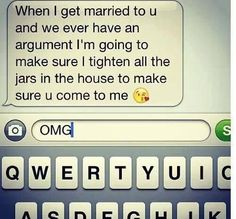 Aww this is funny and cute. I think i would go to my husband for help to open up a jar haha When I Get Married, I Got Married, Married Life, Cute Relationships, Relationship Goals, Perfect Relationship, I Smile, Make Me Smile, Haha