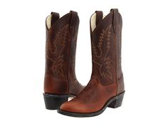 $60.  Old West Kids Boots Round Toe Western Boot (Big Kid) Oiled Rust - Zappos.com Free Shipping BOTH Ways
