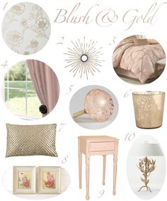 Blush and Gold Bedroom Decor and then Black furniture? Hmmm...I'm in love with this! Let's just hope my hubby feels the same way;)
