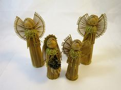 4 Angel Christmas Ornaments Decoration by BonniesVintageAttic