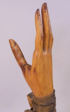 Antique French wooden glove mold
