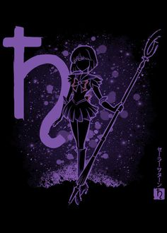 """Sailor Moon Saturn #Displate artwork by artist """"Soulkr Design"""". Part of a 12-piece set featuring the main characters from the popular Japanese anime Sailor Moon. £36 / $46 per poster (Regular size), £72 / $95 per poster (Large size) #SailorMoon #PrettySoldierSailorMoon #PrettyGuardianSailorMoon #SailorSoldiers #SailorMercury #SailorVenus #SailorMars #SailorJupiter #SailorSaturn #SailorUranus #SailorNeptune #SailorPluto #TuxedoMask #Anime #Animation"""