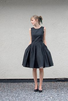 Little Black Organic Cotton Dress - made to order. £180,00, via Etsy.
