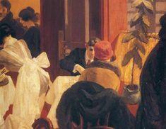 """New York Restaurant"" by Edward Hopper, USA, 1922."