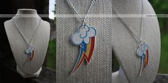 mlp: rainbow dash necklace by *resubee on deviantART