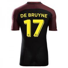 Manchester City 16-17 Kevin #De Bruyne 17  Udebanesæt Kort ærmer,208,58KR,shirtshopservice@gmail.com