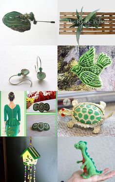 GREEN PALETTE by Elena L. on Etsy--Pinned with TreasuryPin.com