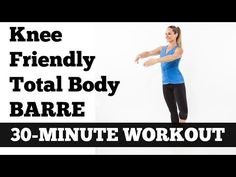 'Knee Friendly' Total Body Barre Workout - Love our workouts? Get our 6 Week System! It& our most comprehensive workout program to date. 30 Day Workout Plan, 30 Minute Workout, Workout Fun, Boxing Workout, Workout Challenge, Barre Exercises At Home, At Home Workouts, Barre Workouts, Cardio