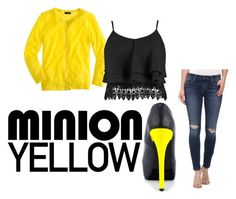 Yellow and Black by brittnicolev12 on Polyvore featuring polyvore, fashion, style, J.Crew, Boohoo, Joe's Jeans, Penny Loves Kenny, contest and minionyellow
