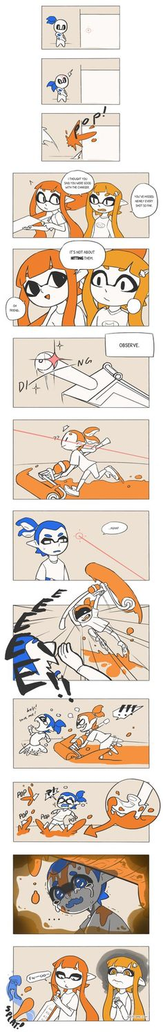 Splatoon: Charger Strats by vSock on DeviantArt #Inkling