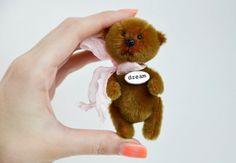 Teddy Miniature Stuffed Toy Bear Patty OOAK