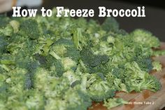 Freezing broccoli ex