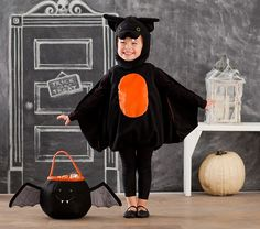 Shop all Halloween accessories, costumes and decor at Pottery Barn Kids. Find all the essentials for Halloween from cool costumes to festive decor. Toddler Bat Costume, Bat Halloween Costume, Classic Halloween Costumes, Wolf Costume, Halloween Bats, Baby Costumes, Halloween 2020, Halloween Ideas, Grease Costumes