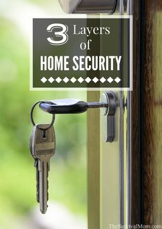 Three Layers of Home Security - Survival Mom - I thought good locks and maybe a security system was all I needed for my home. Home Security Tips, Wireless Home Security Systems, Security Camera System, Security Cameras For Home, Safety And Security, House Security, Personal Security, Security Door, Security Locks For Doors