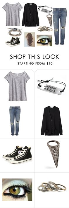 """""""Sin título #649"""" by taysha-218 ❤ liked on Polyvore featuring H&M, Whistles, Organic by John Patrick, Converse, Lynn Ban, With Love From CA, Accessorize, women's clothing, women's fashion and women"""