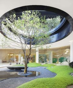 Modern Landscape Design, Modern Landscaping, Contemporary Landscape, Backyard Landscaping, Amazing Architecture, Landscape Architecture, Architecture Design, Internal Courtyard, Sunken Garden