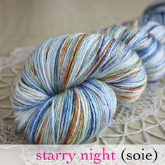 Starry Night / Hand Dyed Yarn