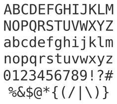 Bitstream Vera Sans Mono Sample