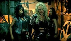 Britney Spears wearing a Burberry Prosum studded leather jacket in her new music video, Till The World Ends.