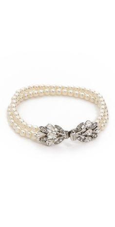 Ben-Amun Dual Strand Imitation Pearl Bracelet | SHOPBOP