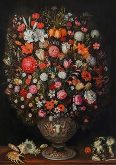 Jan Brueghel der Jüngere (1601 - 1678) Blumenstrauß in einer skulptierten Vase, um 1630 Öl auf Holz 117 × 81 cm Verkauft um: 2.646.000€ Modern Art, Contemporary Art, Vase, Art Nouveau, Bouquet, Auction, Antiques, Vinegar, Artwork