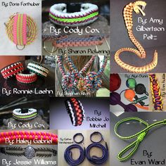The BEST #MondayMedley yet?! #paracord #mondaymedley #collage #craft #bracelet #jewelry #diy #prepper #fixit #survival