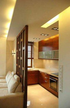 Kitchen Room Design, Home Room Design, Modern Kitchen Design, Home Decor Kitchen, Interior Design Kitchen, House Design, Door Design, Modern Interior, Living Room Partition Design