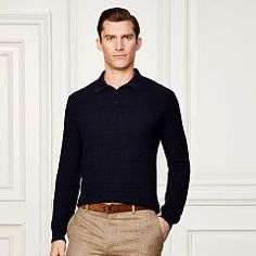 Collared Cashmere Sweater - Purple Label Crewneck - RalphLauren.com