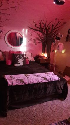 The pink camo REALTREE girly bedroom, I designed for my 11 yr old Granddaughter