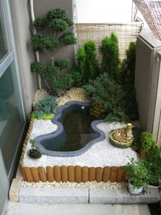 Landscape Ideas Back Yard and Design in 2019 garden design ideas, garden design for small spaces, landscape design, small garden for small house Garden Pond Design, Landscape Design, Landscape Lens, Balcony Design, Patio Design, Abstract Landscape, House Design, Ponds Backyard, Backyard Patio