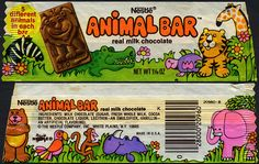Nestle - Animal Bar candy bar wrapper - 1970's by JasonLiebig, via Flickr