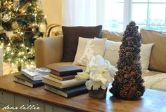 Christmas Chalkboard and Our Family Room by Dear Lillie